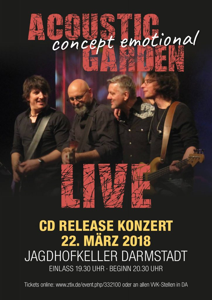 "Acoustic Garden - Release Party ""concept emotional"" @ Jagdhofkeller"