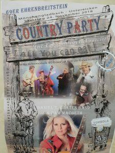 Country Fest der 69er Ehrenbreitstein - Mönchengladbach @ Mehrzweckhalle Eicken